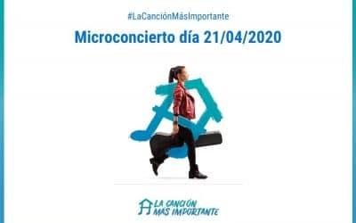 Microconcierto solidario del día 21-04-2020